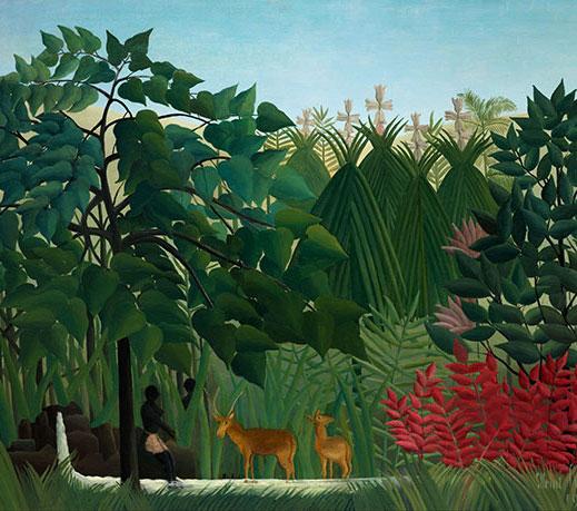 Le Douanier-Rousseau. La Cascade