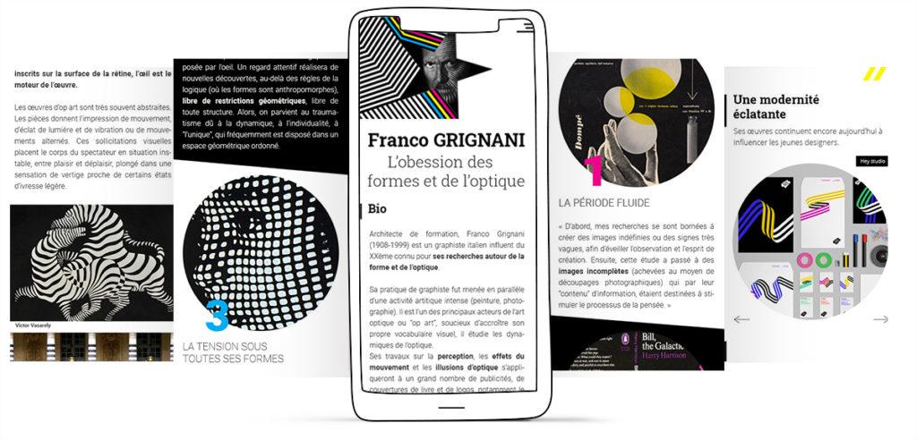 Maquette graphique responsive smartphone