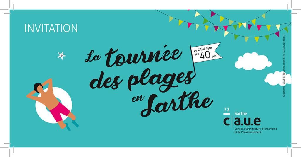 invitation événement festif Sarthe. Graphiste Freelance Le Mans Alençon
