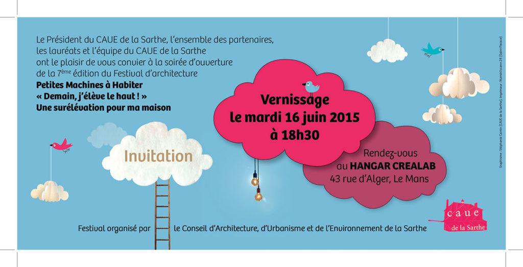 Création invitation événement festif Sarthe - La Chouette Graphiste