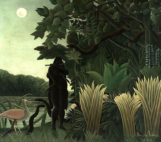 Le Douanier-Rousseau. La Charmeuse de serpents