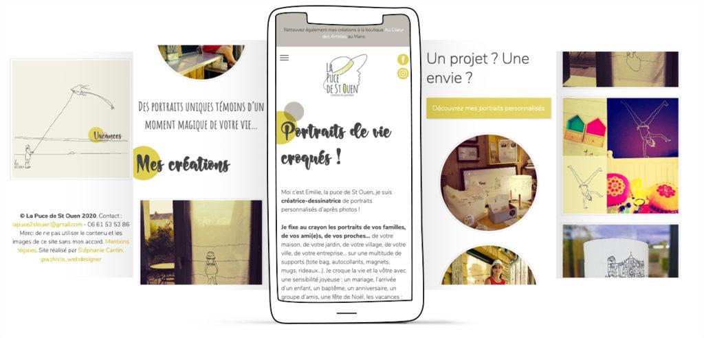 maquette responsive smartphone la puce de st ouen