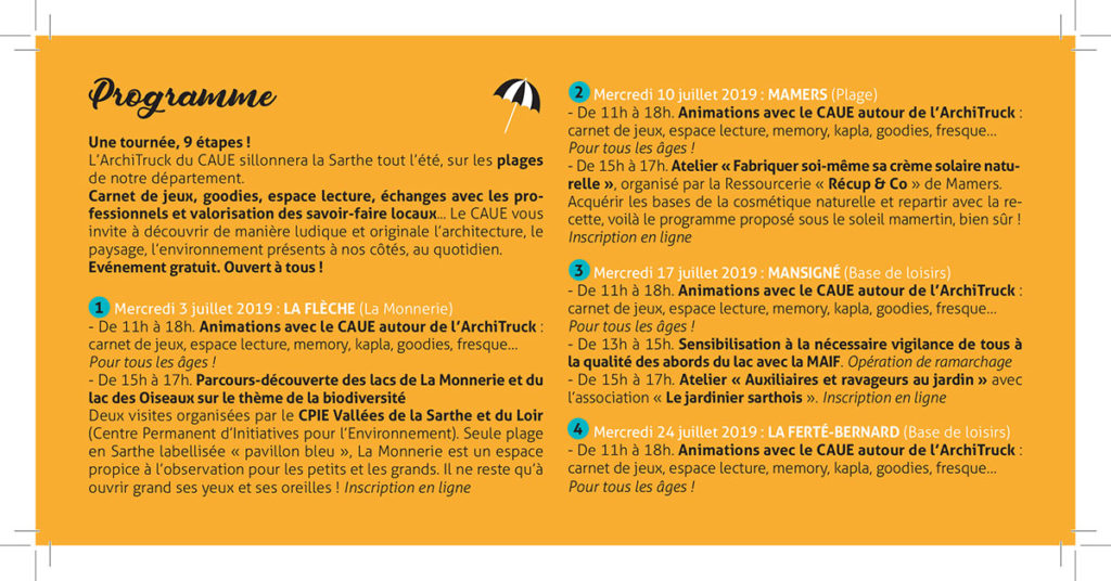 Création programme événement festif Sarthe - Graphiste freelance