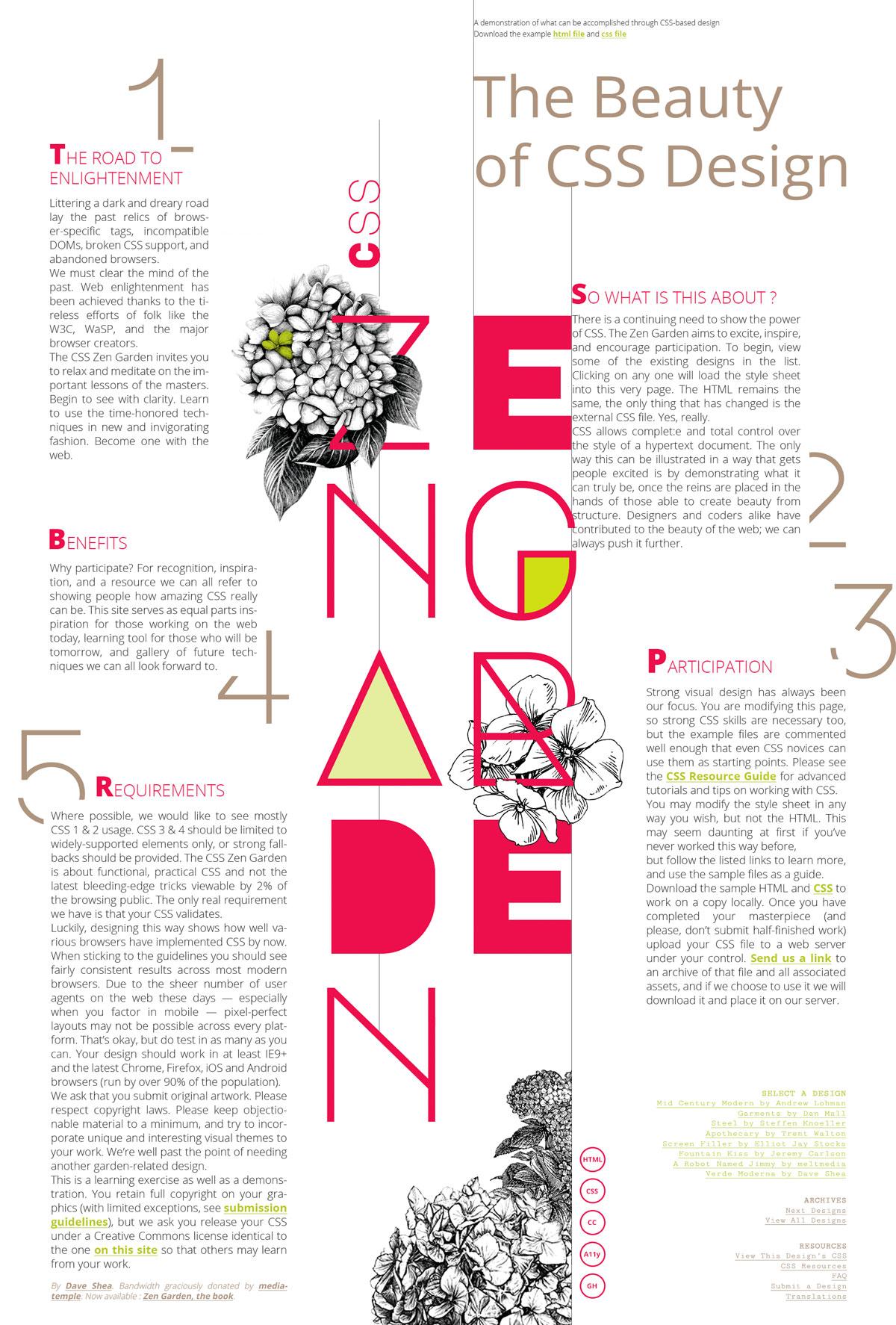 Maquette web zengarden