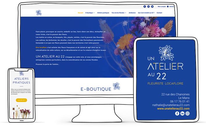 un atelier au 22. création site web. Sarthe