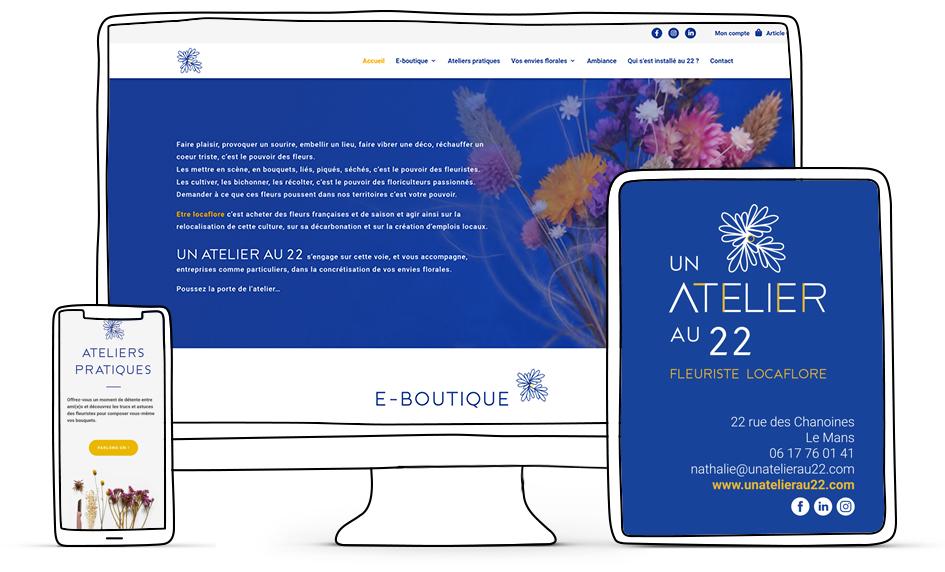 Site e-commerce Un atelier au 22